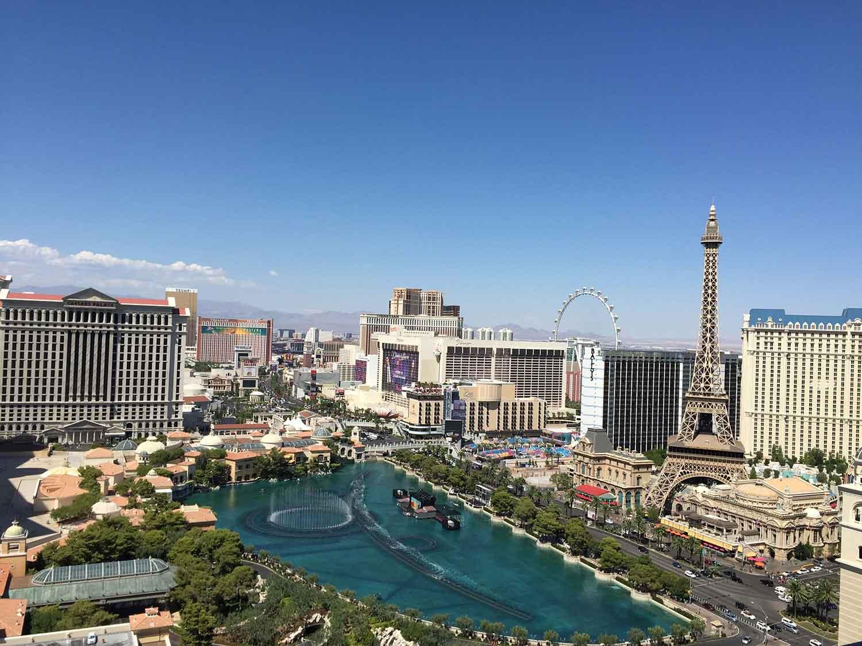 Views from the balconies at  The Cosmopolitan Las Vegas