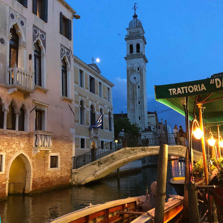Trattoria Da Giorgio ristorante canal view Venice Italy