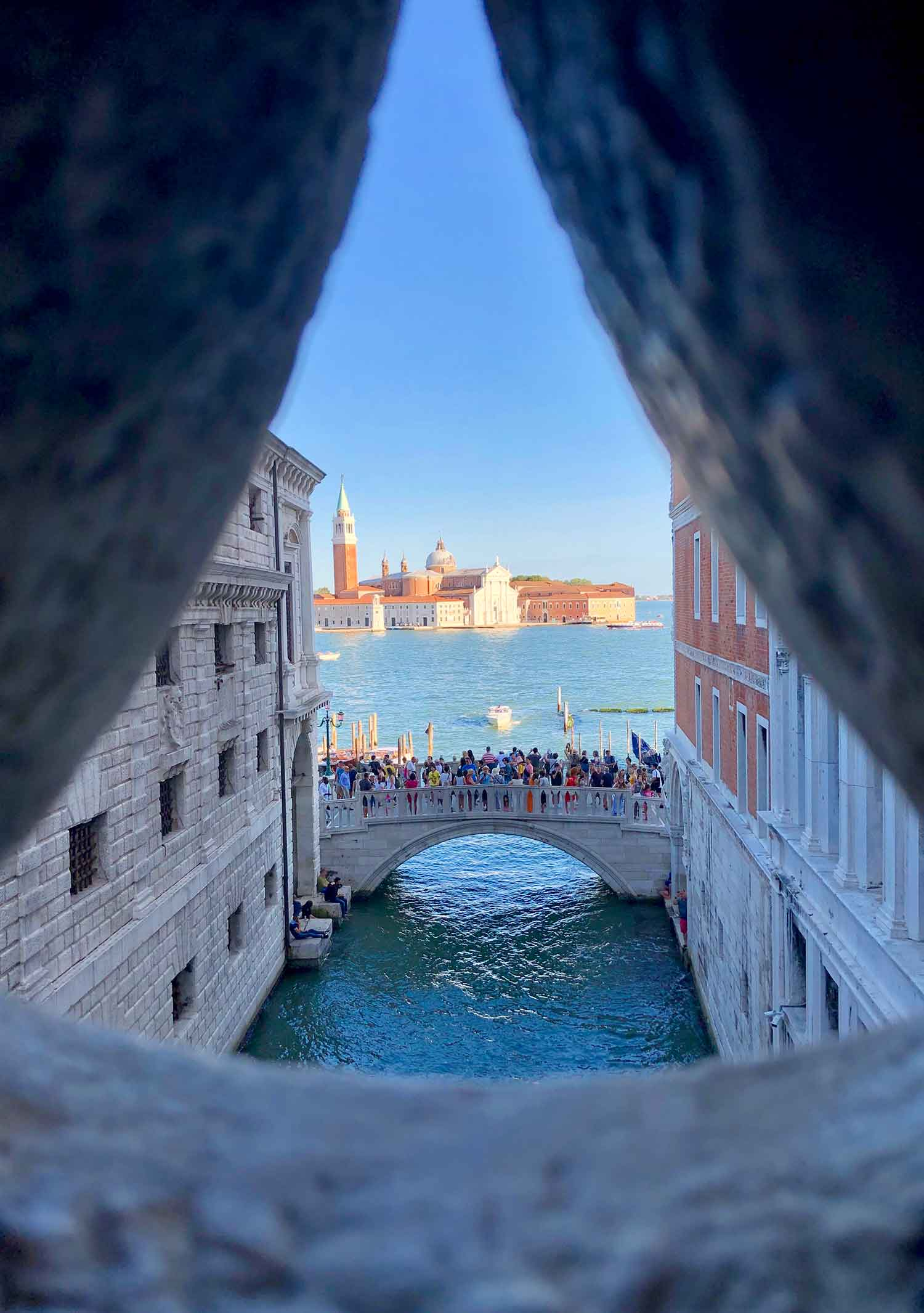 View inside Bridge of Sighs Ducale Palace Tour Venice Italy travel guide