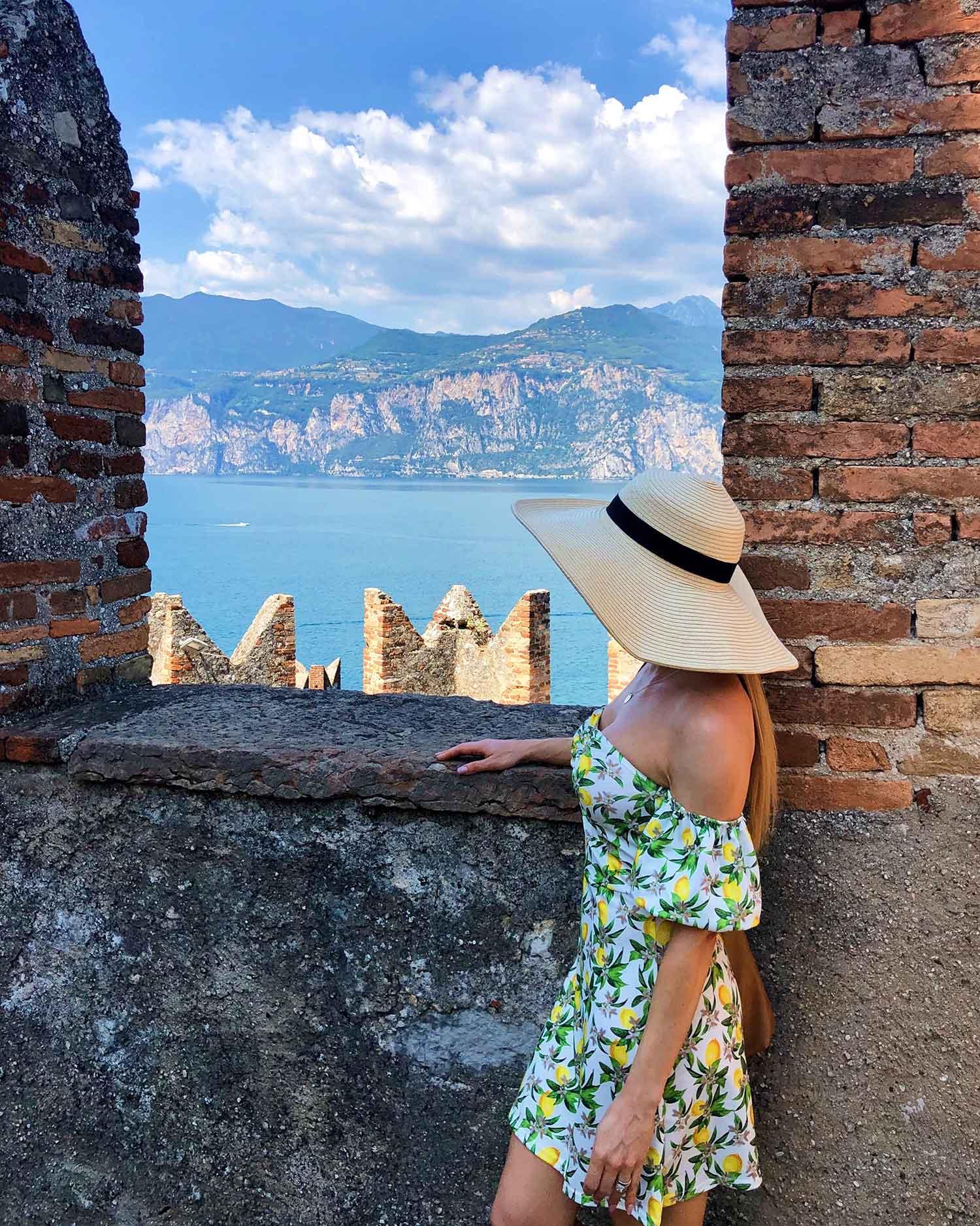 Views top Castle Scaliger Malscine Lake Garda Eve Dawes travel blogger