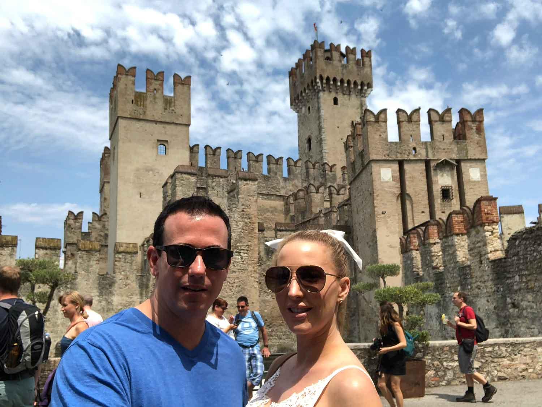 Rocca Scaligera Castle Sirmione Italy romantic couple