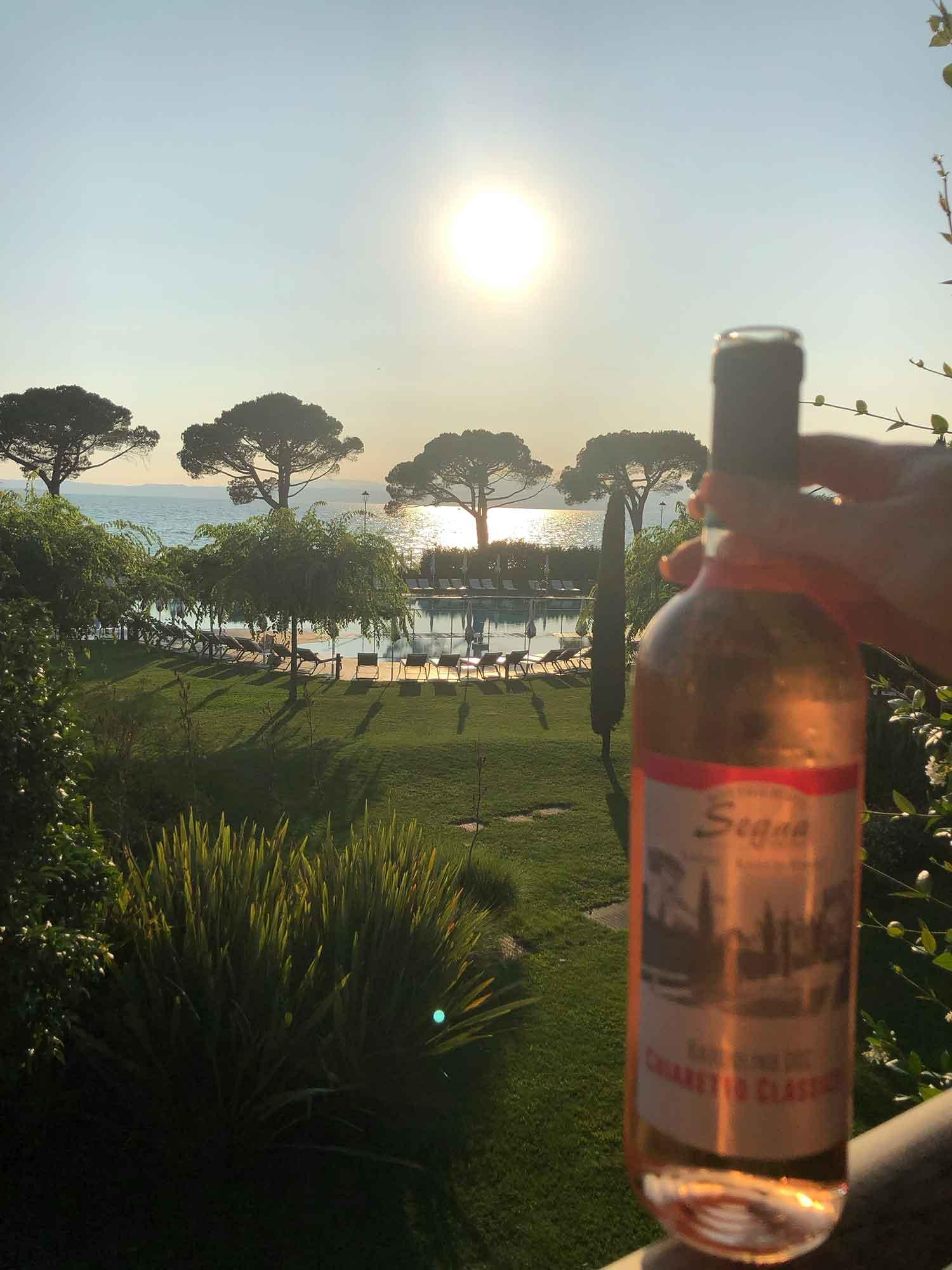 Hotel Corte Valier , Lazise, Lake Garda sunset drinks and balcony views