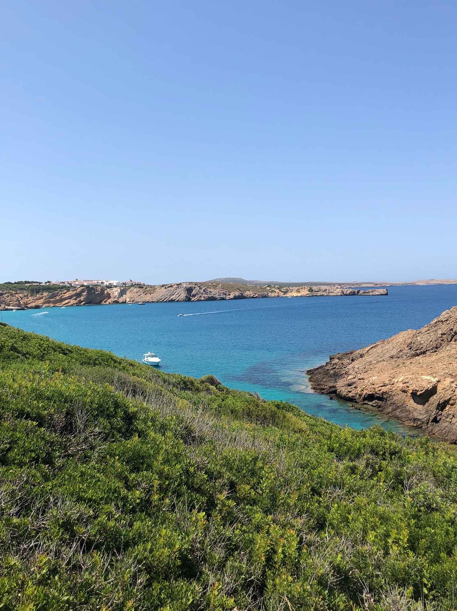 Menorca panoramic ocean views Arenal d'en Castell Spain