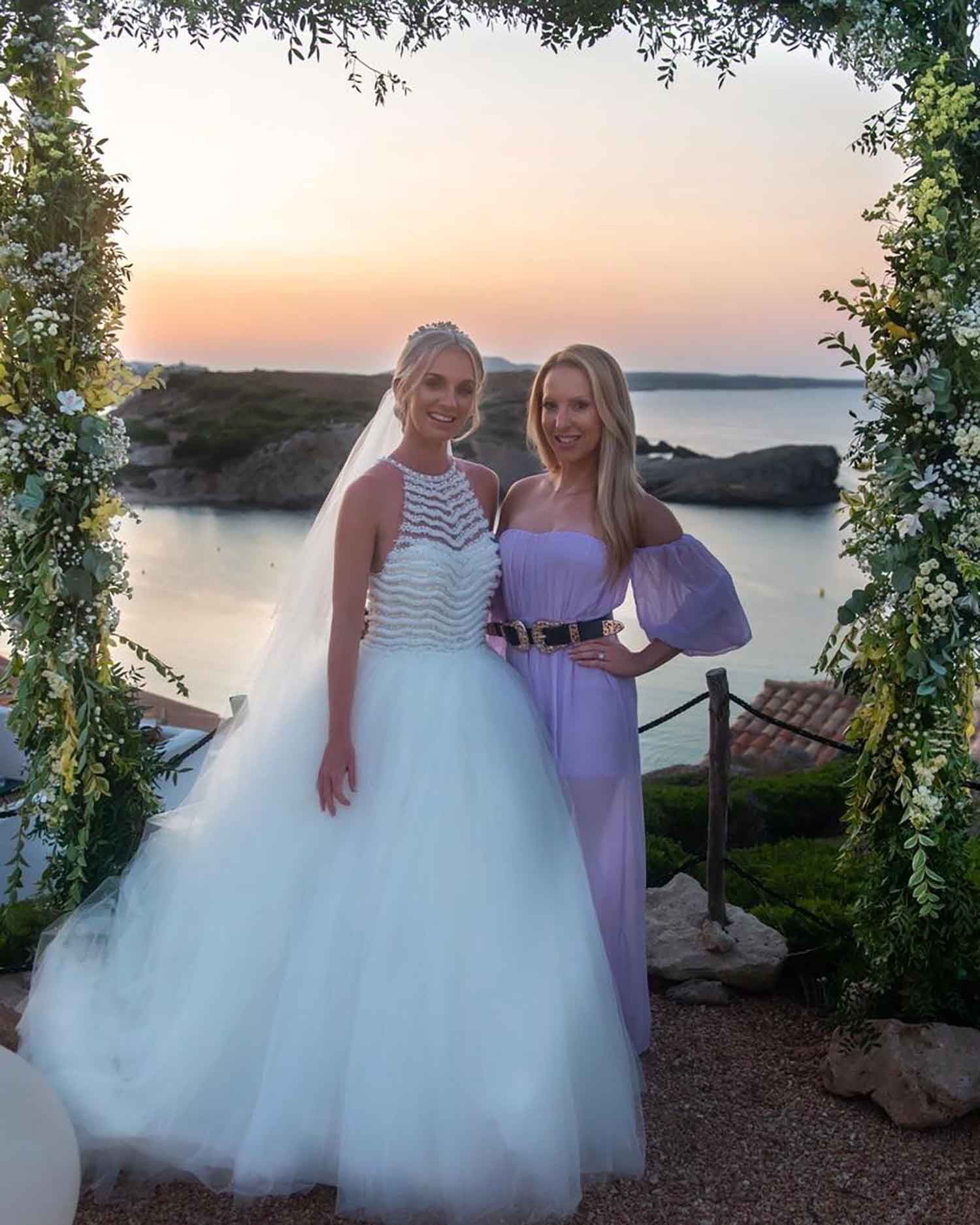 Menorca bride guest sunset Arenal D'en Castell