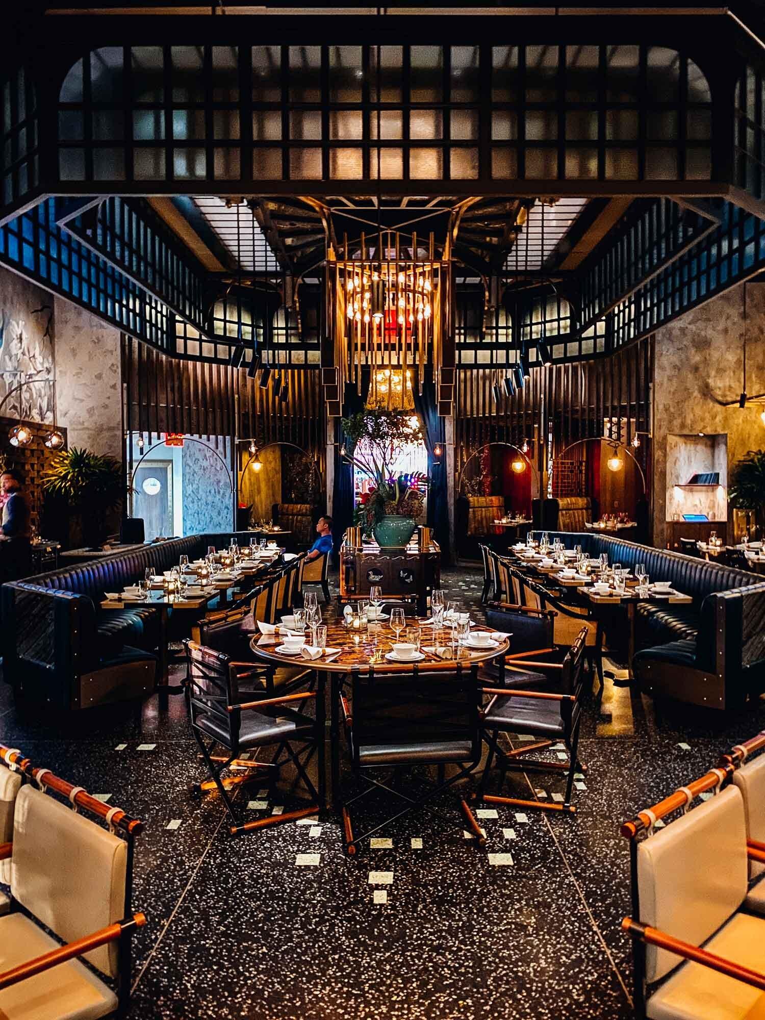 Interior Mott 32 restaurant Vegas