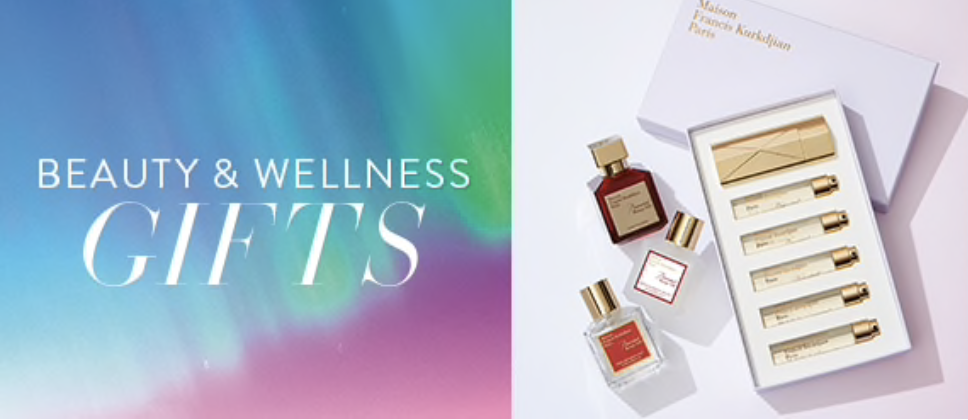 SAKS beauty and wellness gifts perfume poster