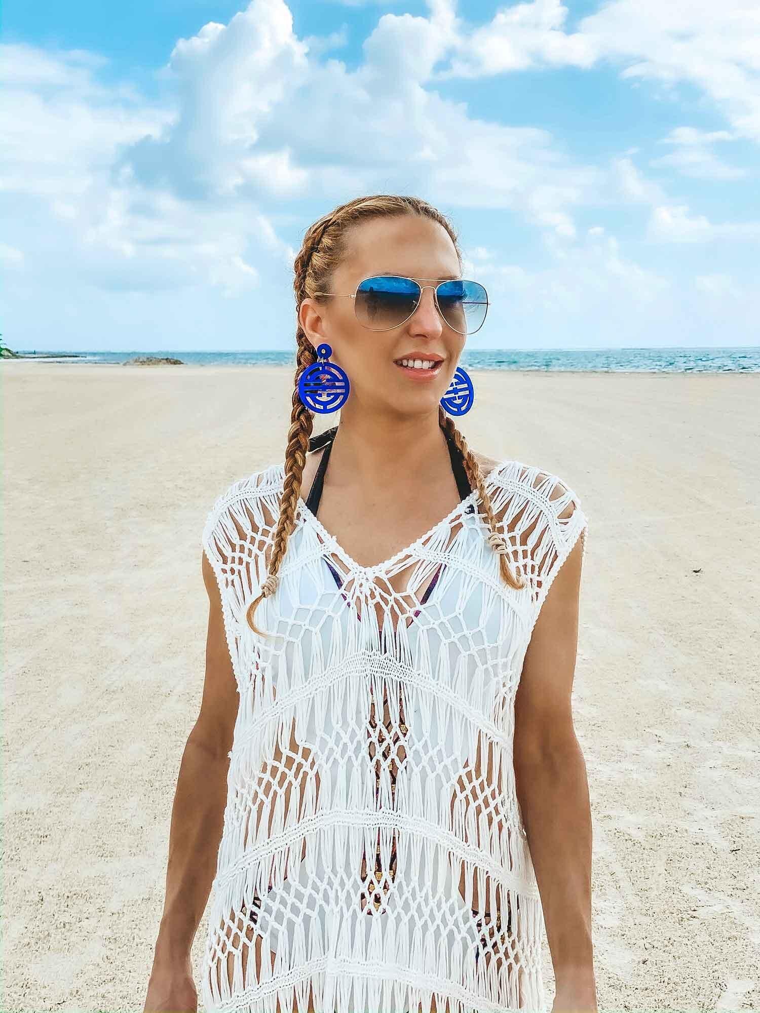 Femme Luxe Finery White Crotchet Maxi Dress resort wear women
