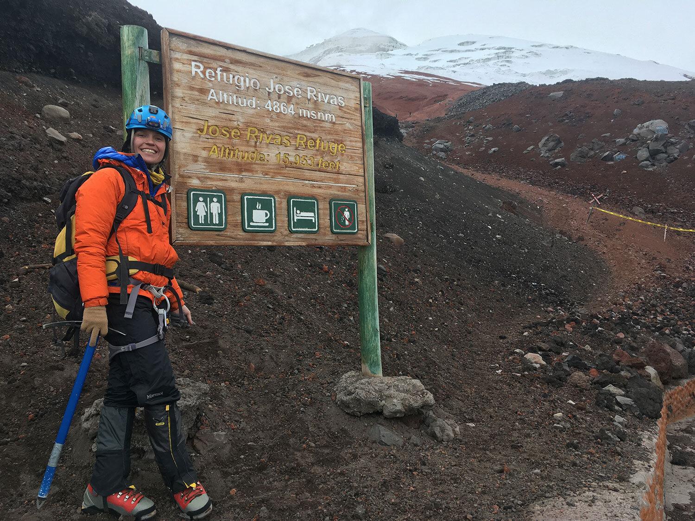 WInter workout Caroline Schley climbing Cotapaxi summit
