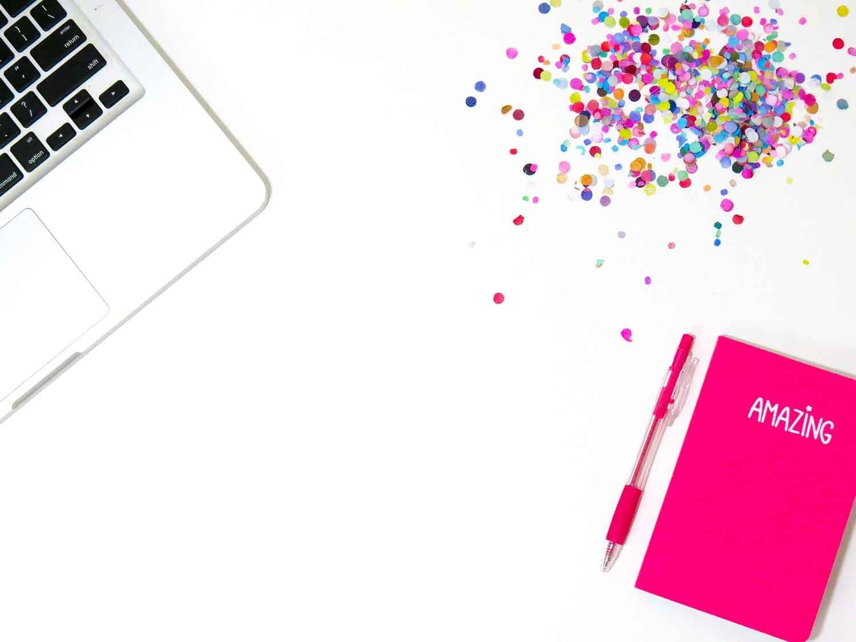 White desk pink organizer notepad manic depression recovery