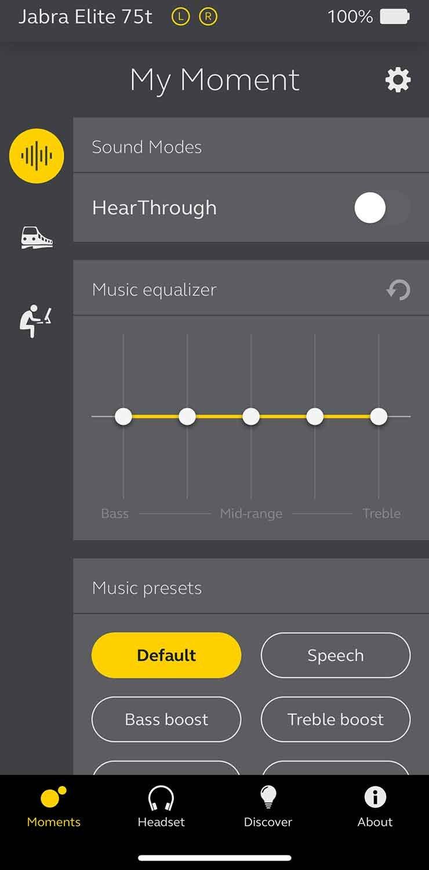 Jabra Elite 75t App
