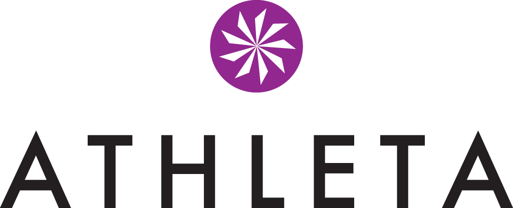 online shopping sales Athleta logo purple black