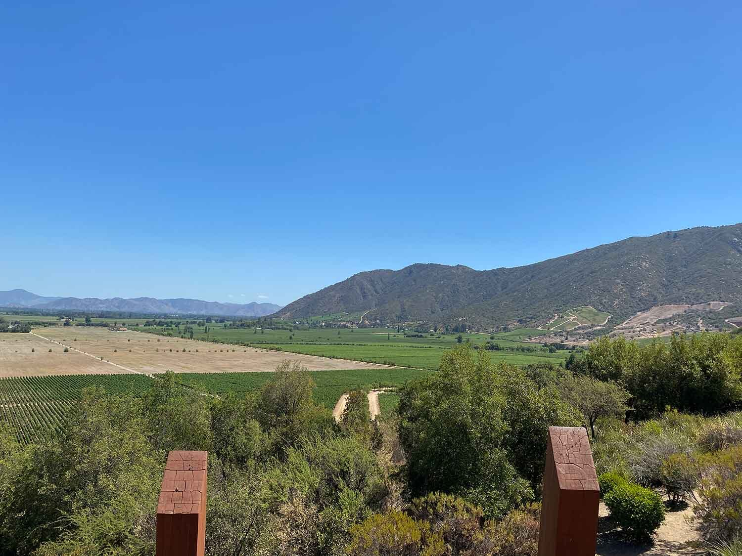 Views of Colchagua Valley from Clos Apalta / Lapostelle