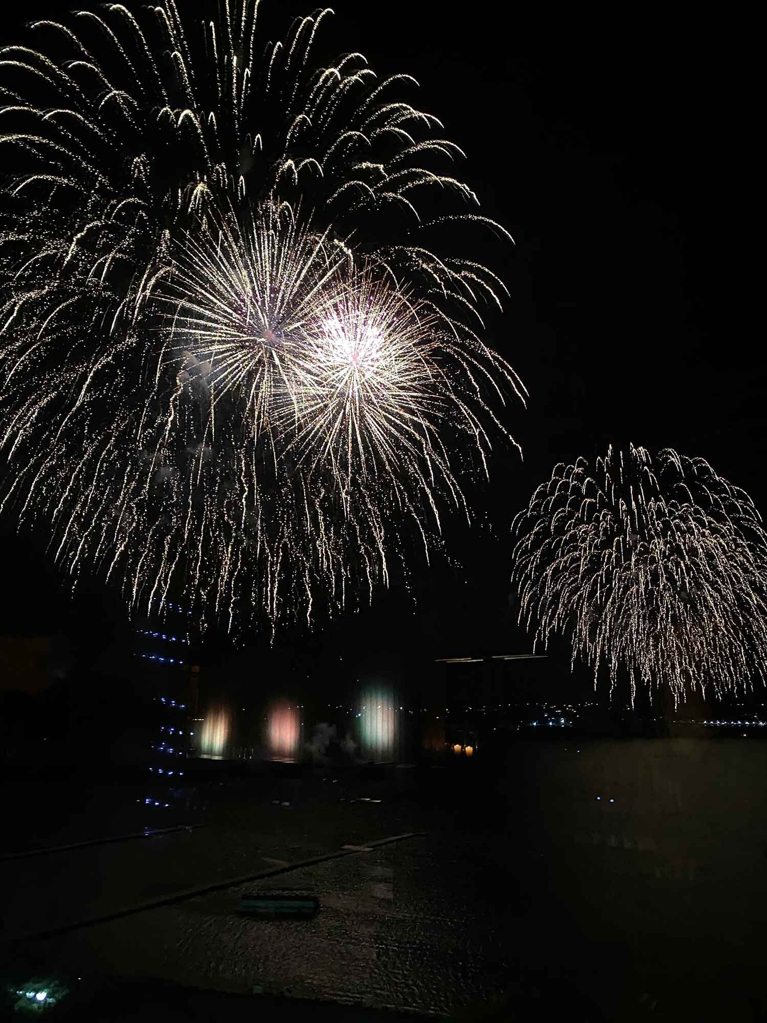 New Years Fireworks, Puerto Varas, Chile