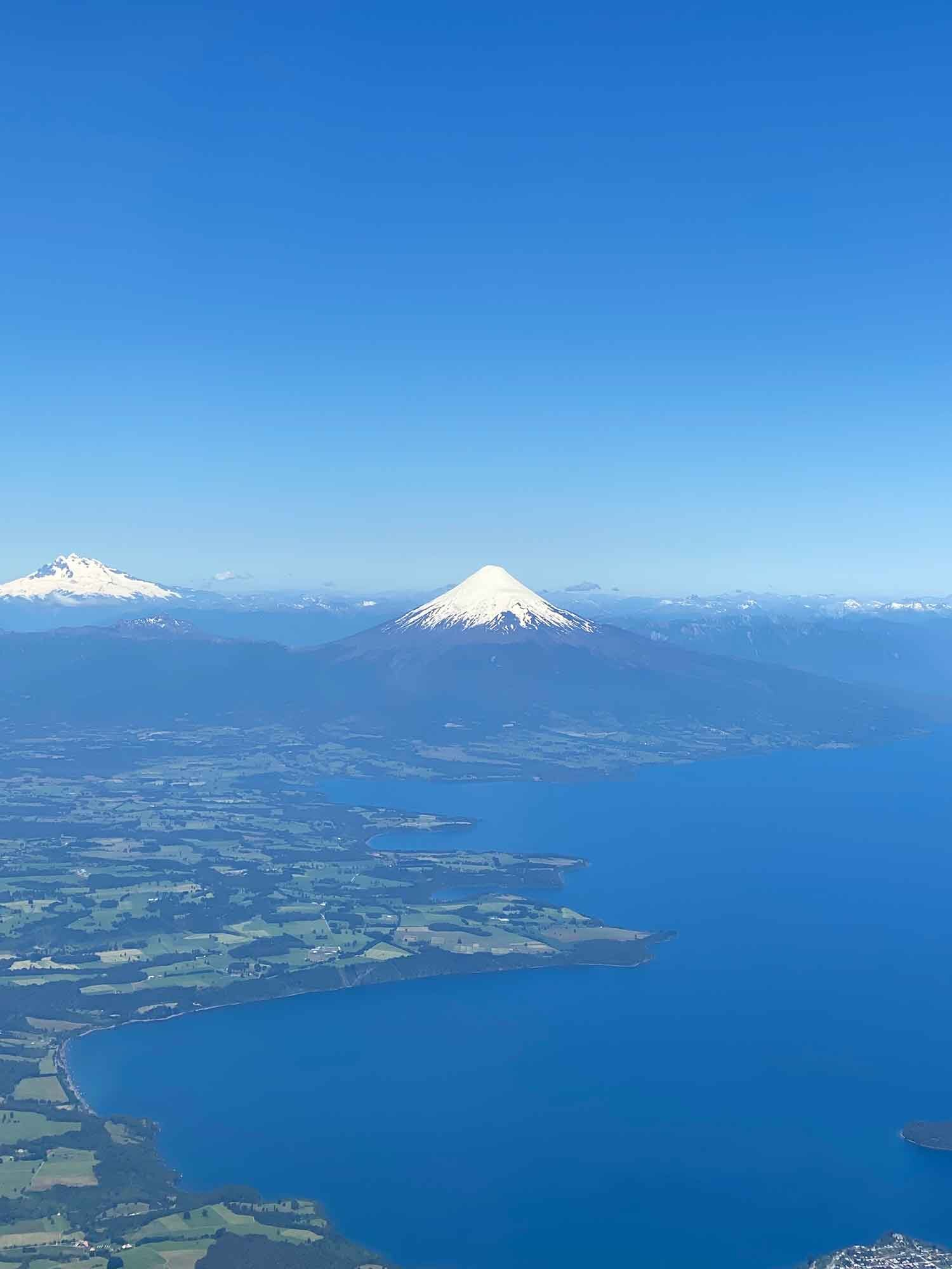 Views from the top of Osorno Volcano Chile