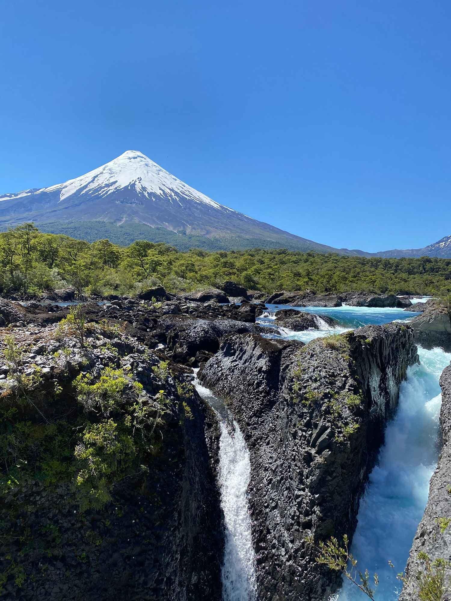 Petrohue Falls, Patagonia Lake District Chile