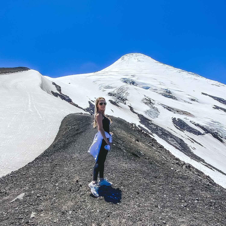 Summit Osorno Volcano Lake District Chile Eve Dawes luxury travel blog
