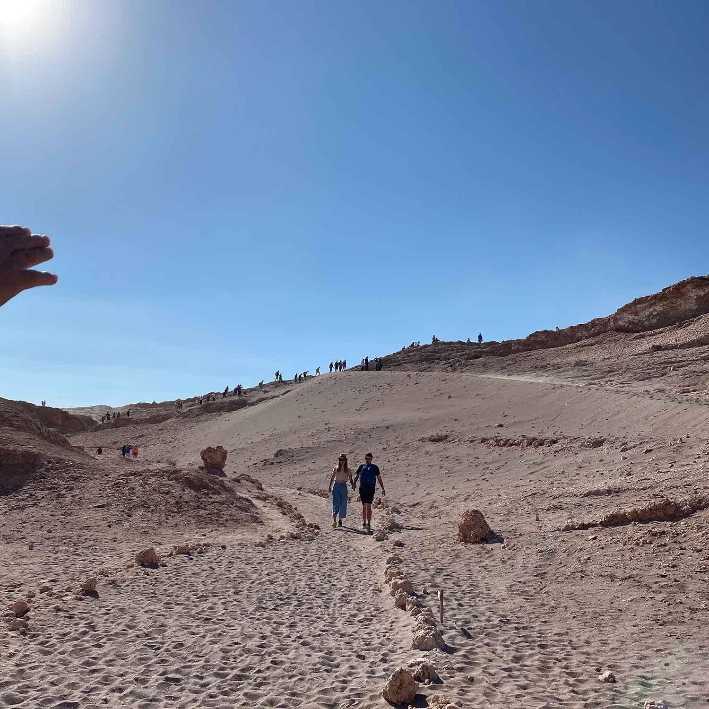 Sand dunes Atacama Desert national park Chile