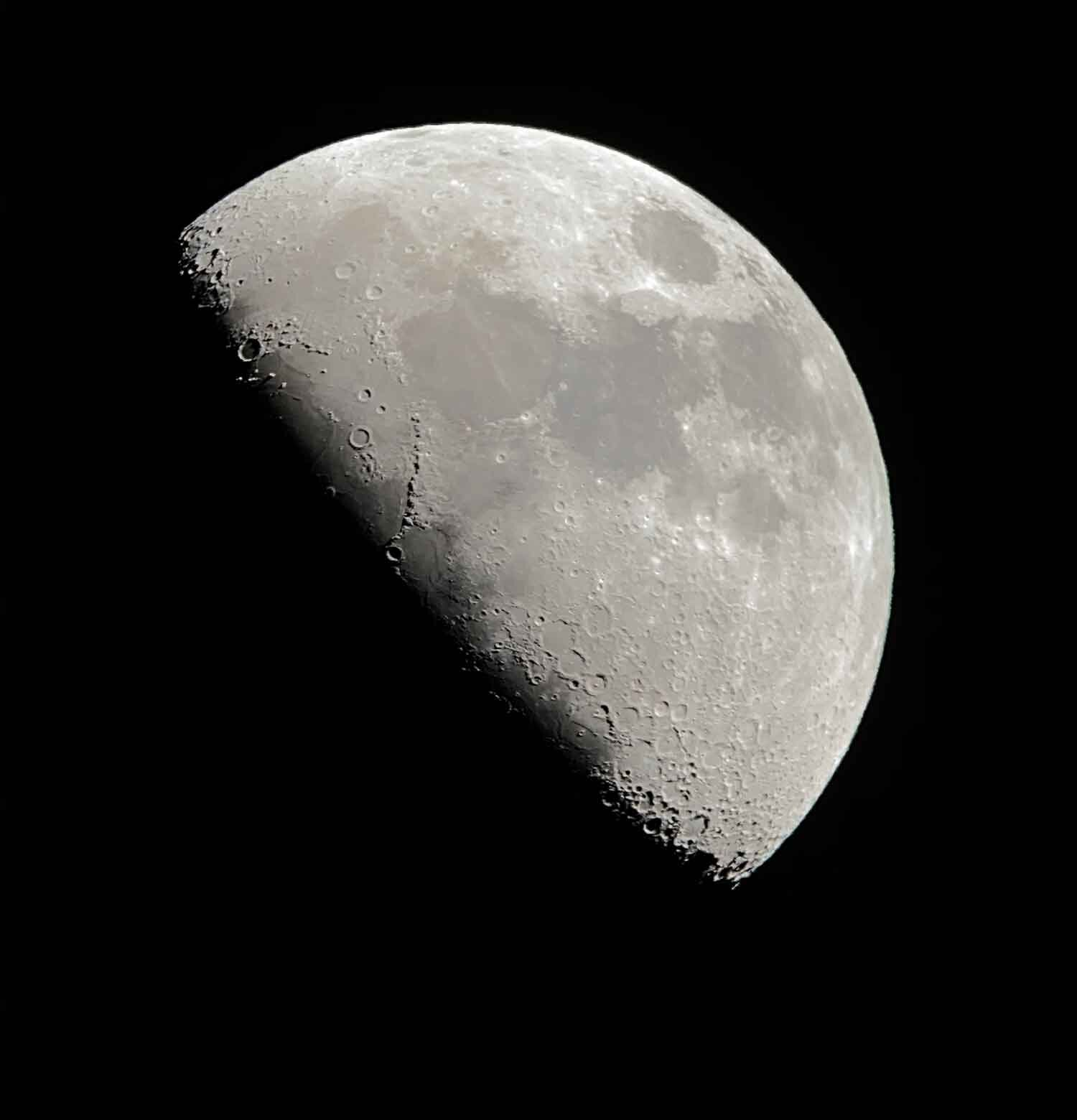 Moon through telescope Stargazing Tour Chile