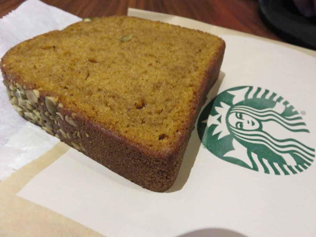 Starbucks Pumpkin bread slice 410 calories