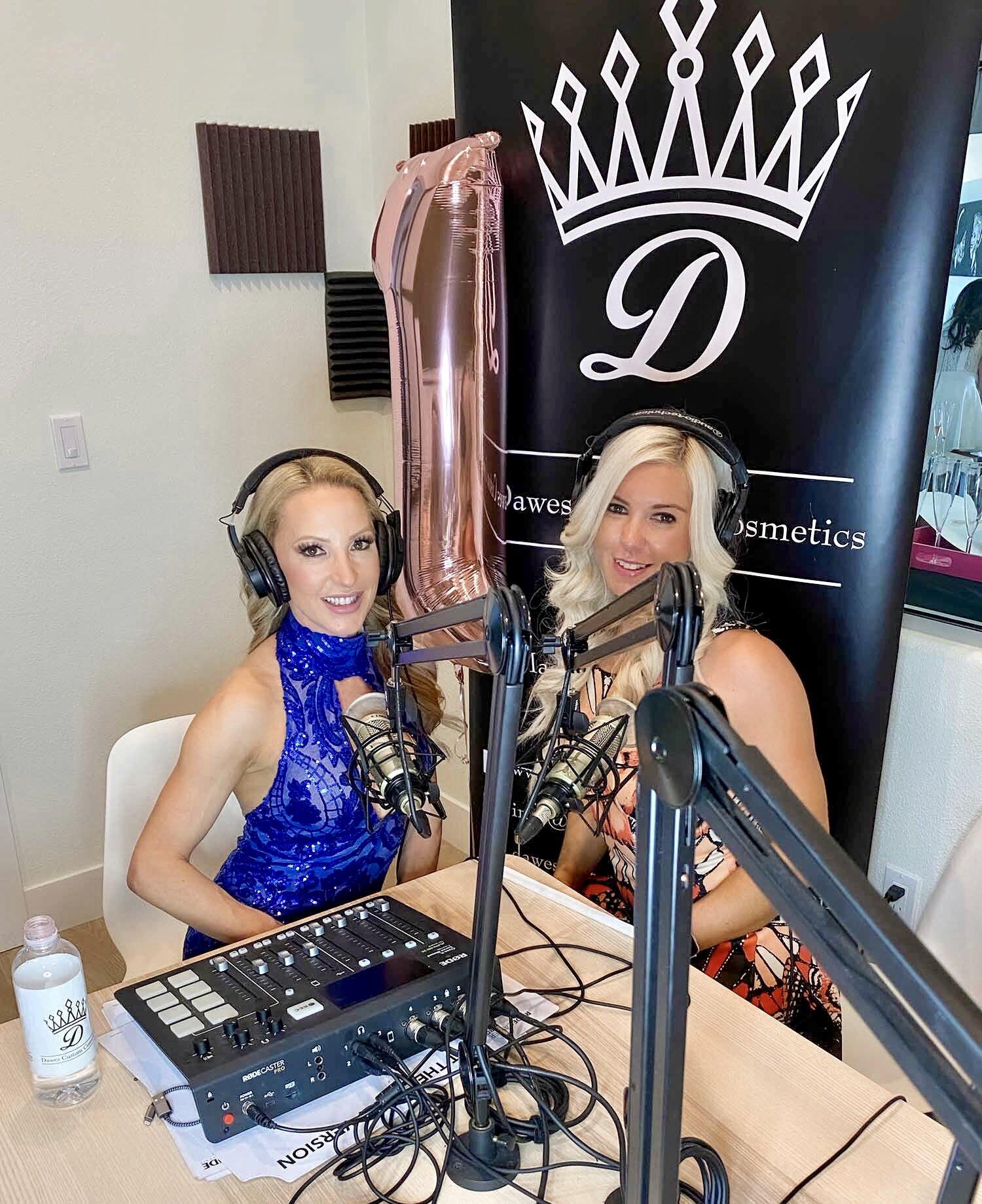 Fitness models Eve Dawes Ali Eather podcast studio