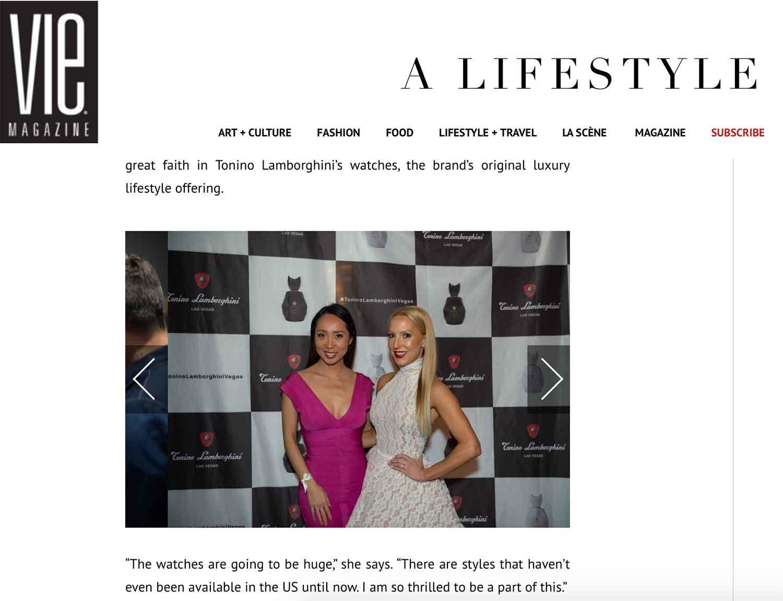 Vie Lifestyle magazine beauty editorial Lisa and Eve Dawes