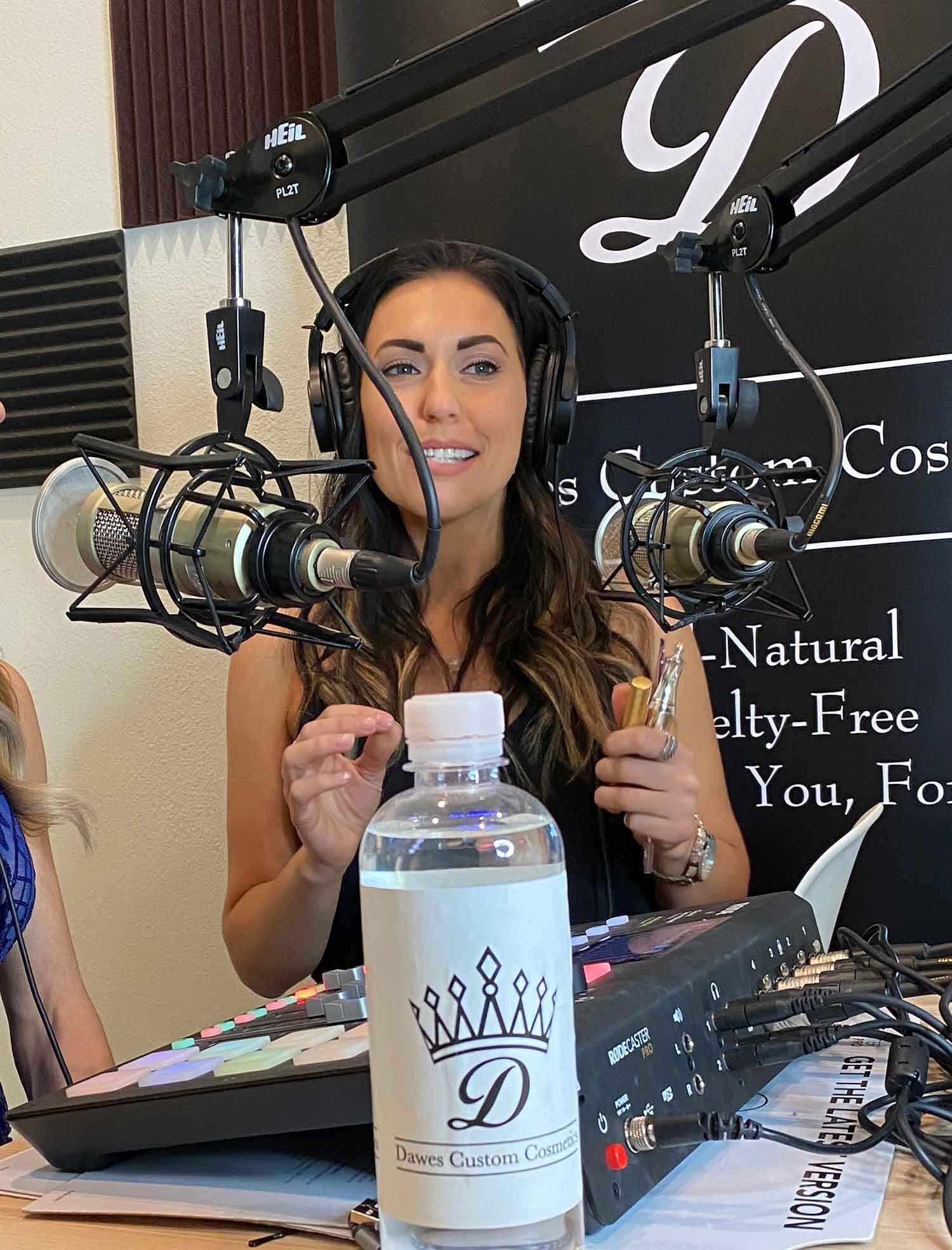 Beauty tips Amanda May Glamour Gains podcast studio