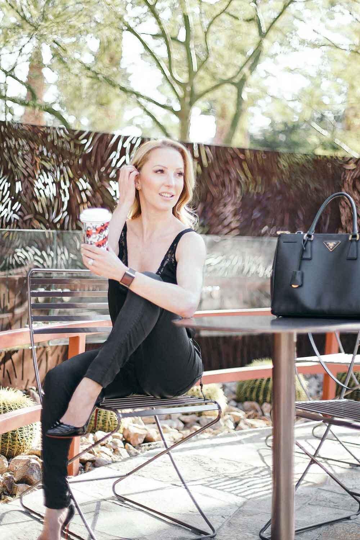 sugar free starbucks drink Fitness blogger Eve Dawes sat