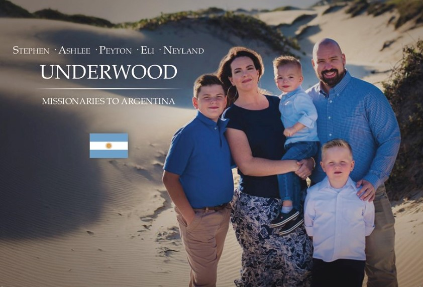 Stephen and Ashlee Underwood serving in Argentina.