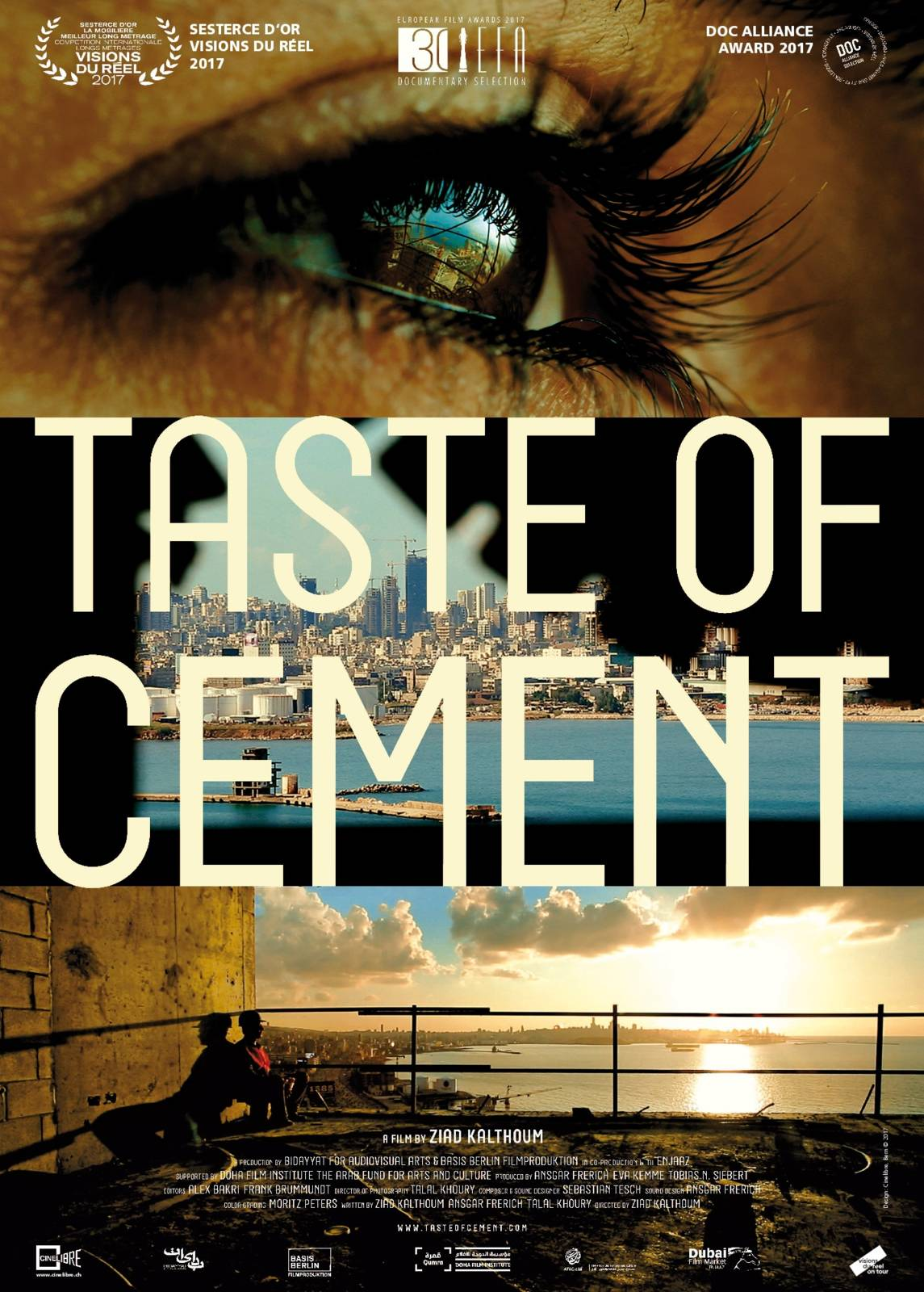 - TASTE OF CEMENT, 2017 (Germany, Lebanon)A portrait of workers in exile. An empathetic encounter with people who have lost their past and their future, locked in the recurring present. The director creates an essay documentary of Syrian construction workers building new skyscrapers in Beirut on the ruins caused by the Lebanese civil war. At the same time their own houses are being bombed in Syria. Mute and imprisoned in the cement underground, they must endure until the new day arrives where the hammering and welding drowns out their nightmares.Director: Ziad KalthoumLength: 1h 15minWhere and when: The Lexi Cinema, Monday 3 December, 6:30pm