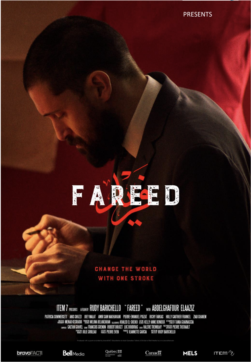 - FAREED, 2018 (Canada)Young Berber dressmaker, Fareed is passionate about poetry and calligraphy. The news in Montreal, where he lives, are constantly filled with stories about the violence and barbaric acts committed in the name of Islam. Fareed has to overcome the way migrants like himself is represented in the media, and fight to become part of society.Director: Rudy BarichelloLength: 11minWhere and When: Genesis Cinema, Friday 30 November, 6.45pm (screened alongside Another News Story)