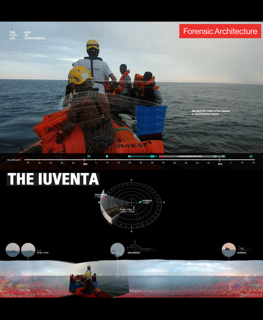 - THE IUVENTA, 2017 (UK, Mediterranean)Since the end of 2016, culminating in summer 2017, a growing campaign of delegitimisation and criminalisation has systematically targeted NGOs engaged in search and rescue.The ship Iuventa, of the German NGO Jugend Rettet, was seized by the Italian judiciary under suspicion of 'assistance to illegal migration' and collusion with smugglers during three different rescue operations. The seizure came only days after the NGO, along with several others, had refused to sign a 'code of conduct' that would have dangerously limited their activities. The video presented here offers a counter-investigation of the authorities' version of these three episodes, and a refutation of their accusations.Director: Forensic ArchitectureLength: 33minWhere and when: SOAS, Monday 3 December, 7pm (screened alongside Iuventa)