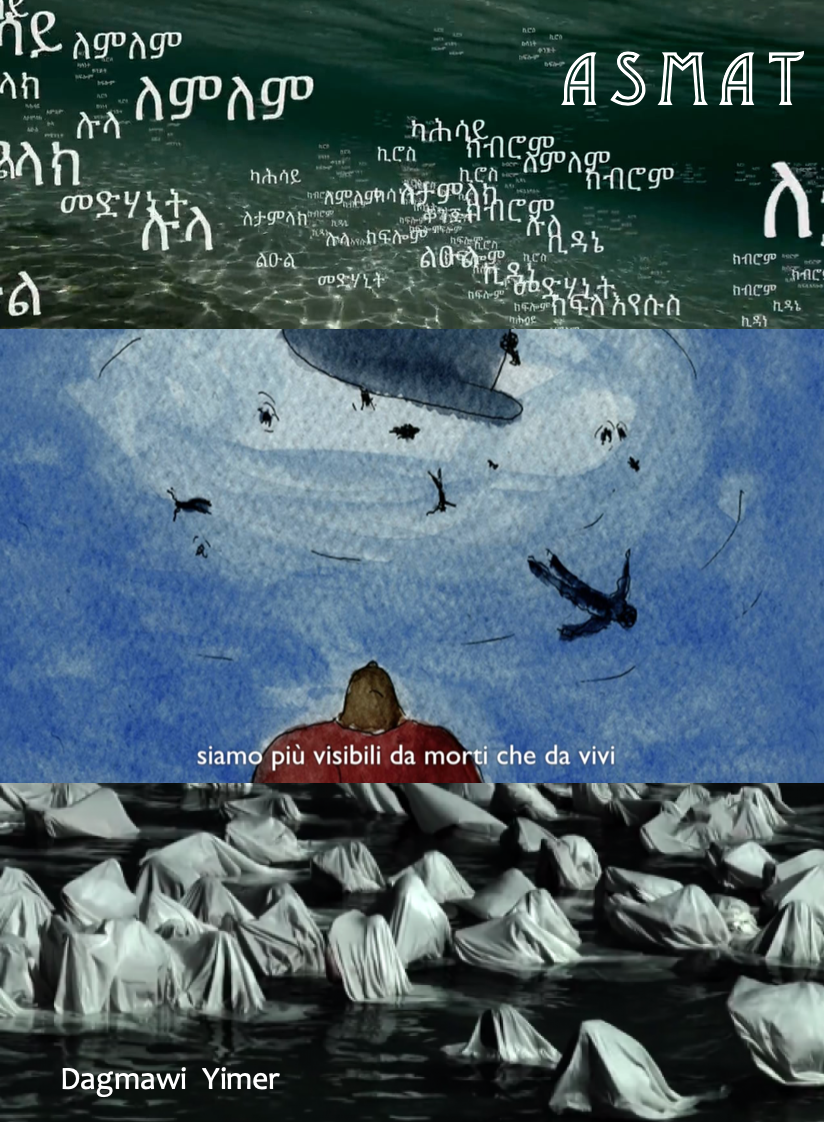 """- ASMAT, 2015 (Italy)A video to commemorate the victims of the disaster that occurred on October 3, 2013, off the coast of Lampedusa. Its intention is to force the institutions and civil society, in the words of the director, to """"name each and every one, to make us aware of how many names lost their bodies on one single day, in the Mediterranean sea"""".Director: Dagmawi YimerLength: 17minWhere and when: Genesis Cinema, Sunday 2 December, 6.30pm (screened alongside The Order of Things)"""