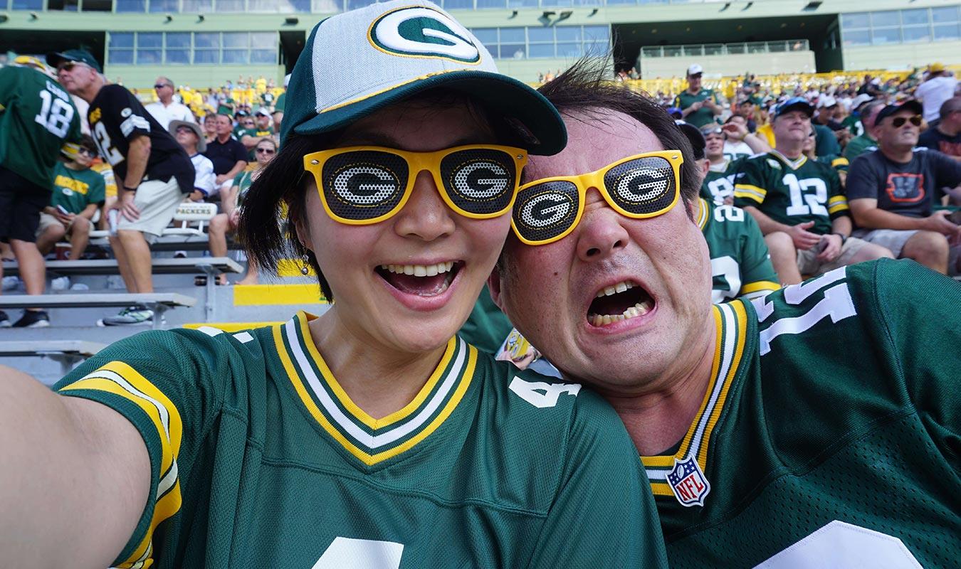 Japanese Packers Cheering Team -