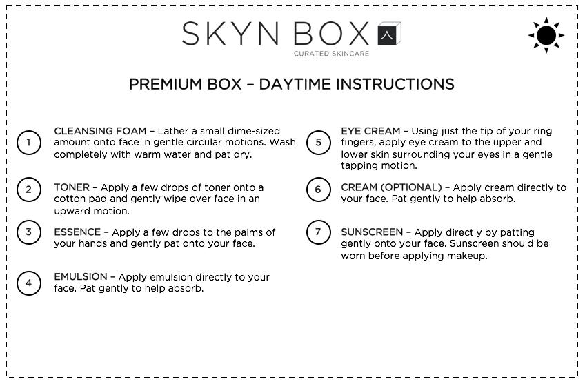 Premium Mini Box Daytime Instructions