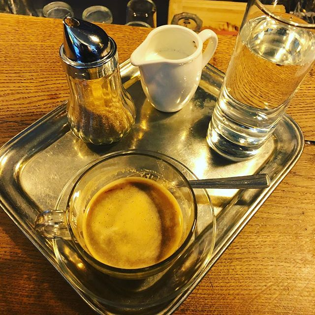 This is what came when I ordered coffee in Budapest. Awesome. #coffee #budapest @gisselllara I know you are jealous. #accidentallywesanderson