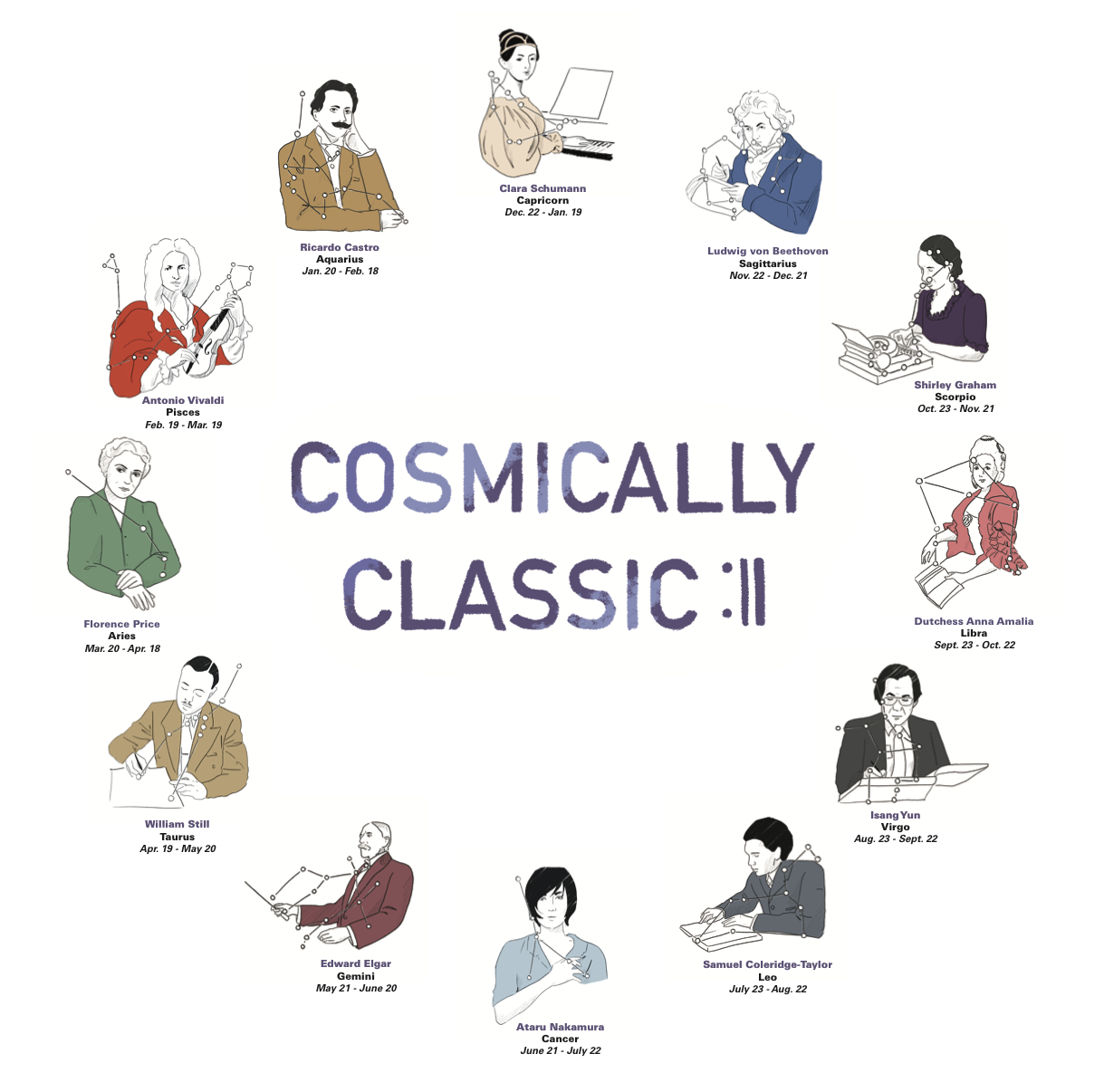 Cosmically Classic  An Instagram campaign for WQXR Classical Music Station.