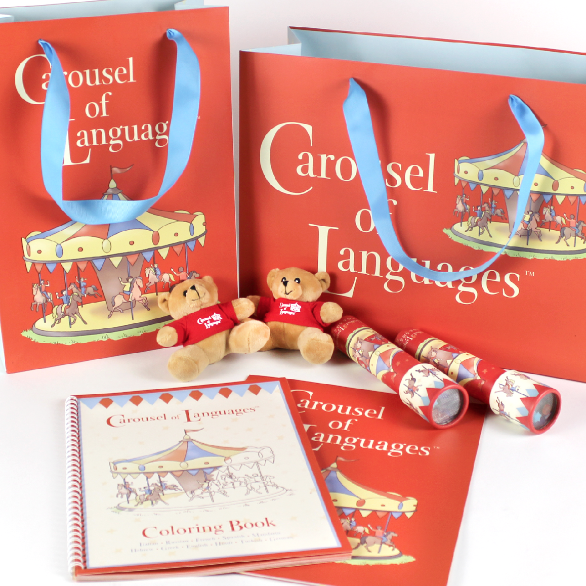 Carousel of Languages  Graphic Design for a foreign language learning program in Manhattan's upper east side.