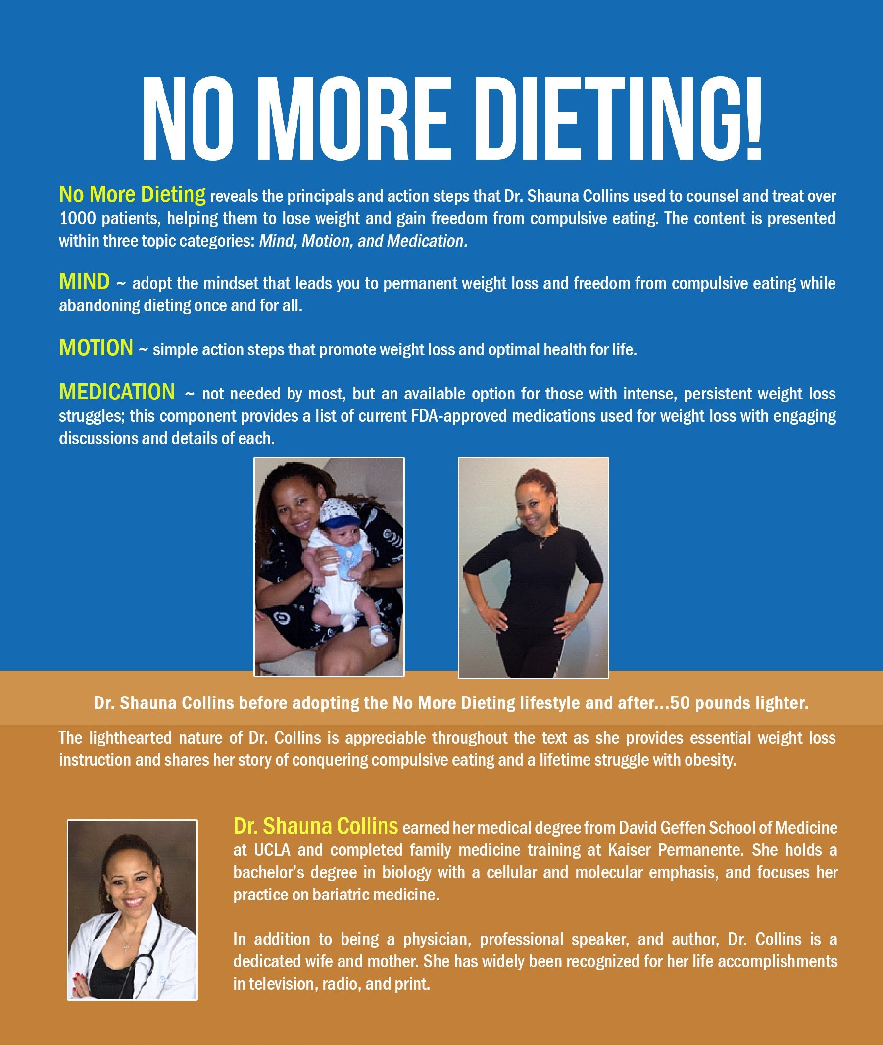 No More Dieting! ~ Rear Cover