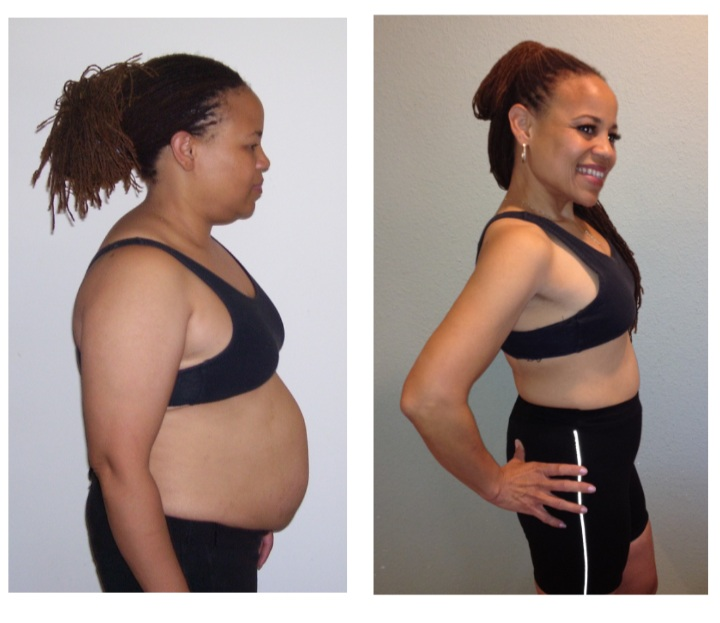 Doc Shauna on the Left - after years of dieting…on the Right after 6 months of 'No More Dieting!'