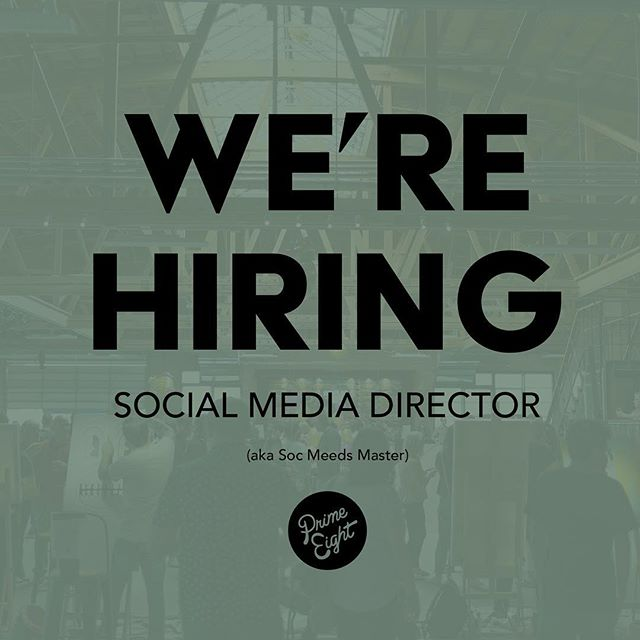 We are seeking a social media human (or alien) to run our social channels. DM us if interested. #Prime8Art