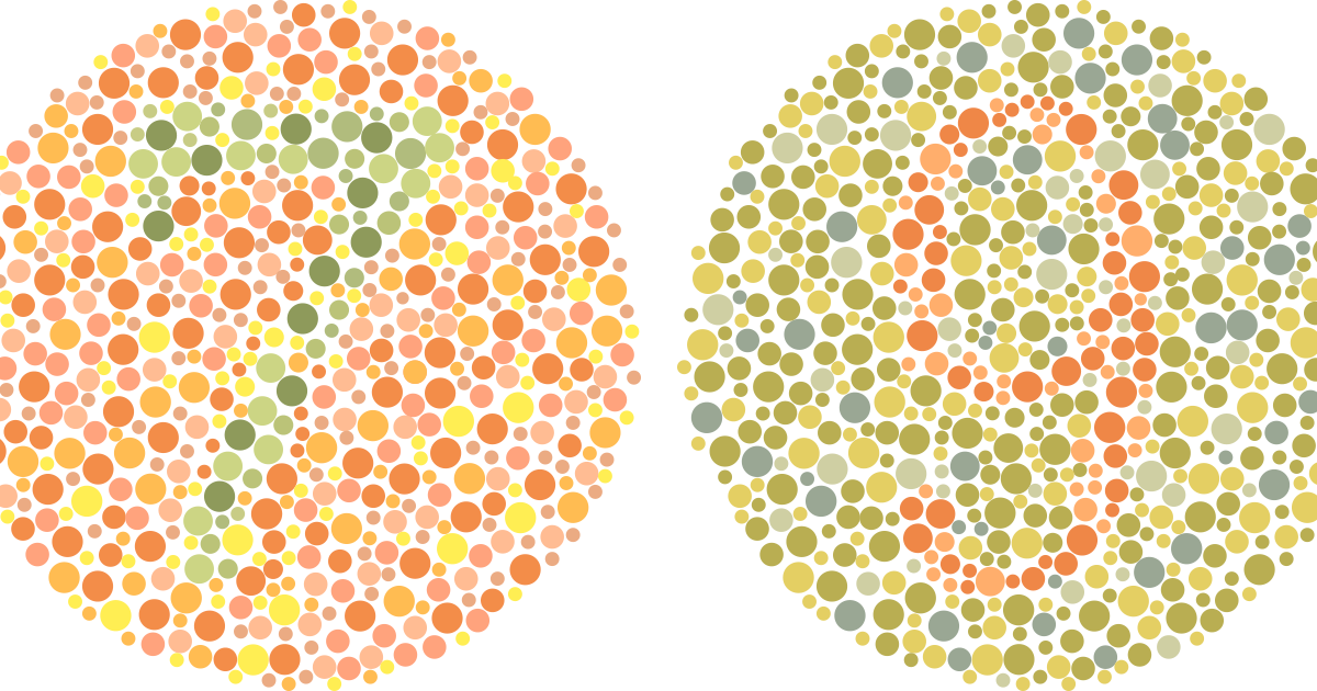 Can you see the numbers in these two images? If not, you might be color blind.
