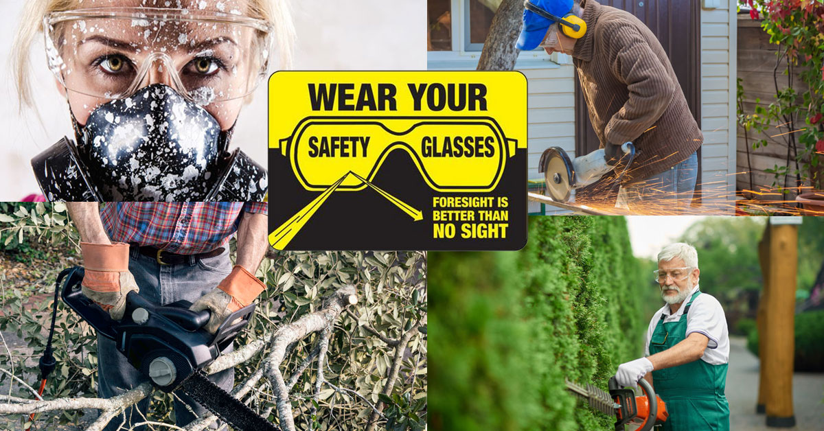 Wear your safety glasses.