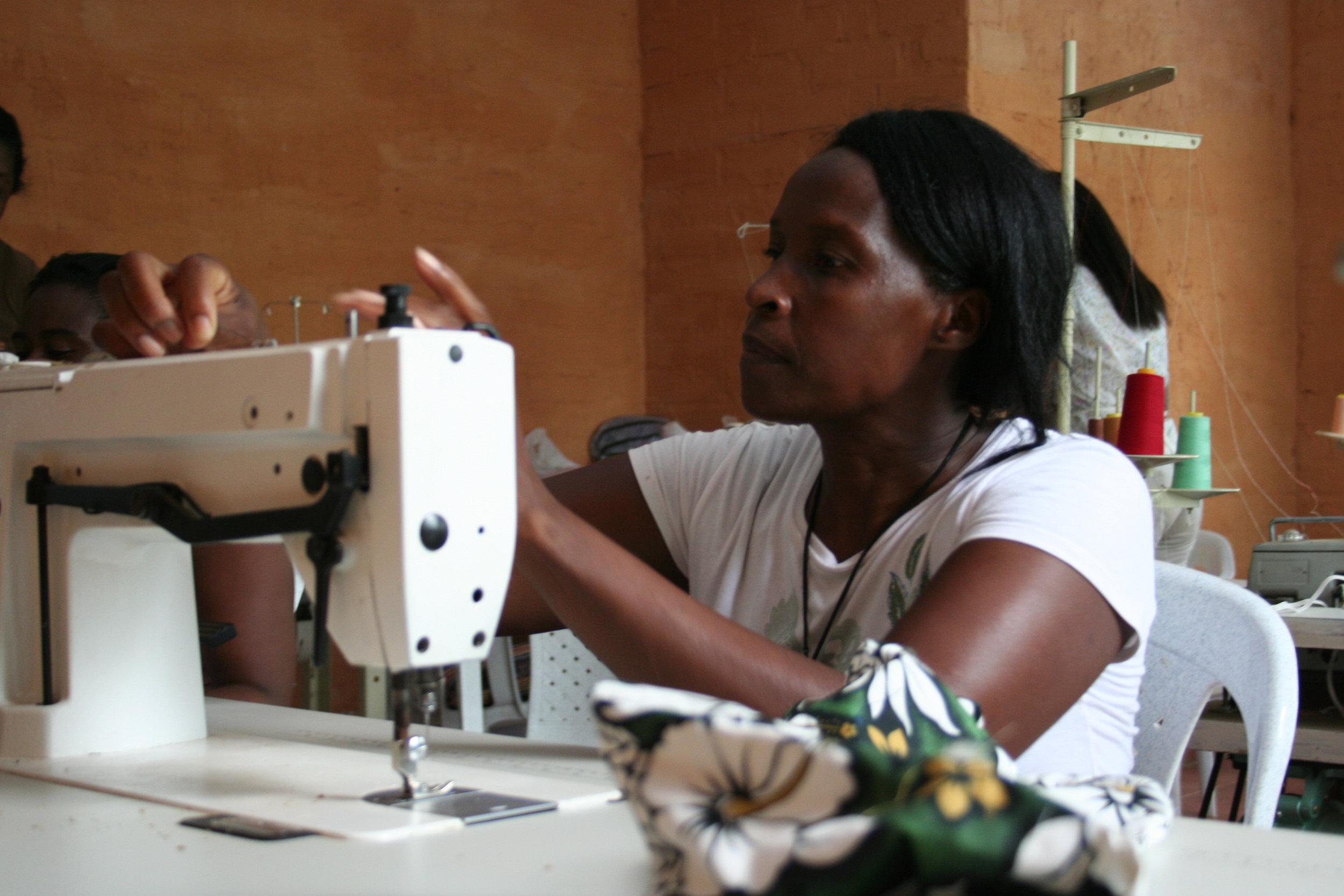 Antonia sewing