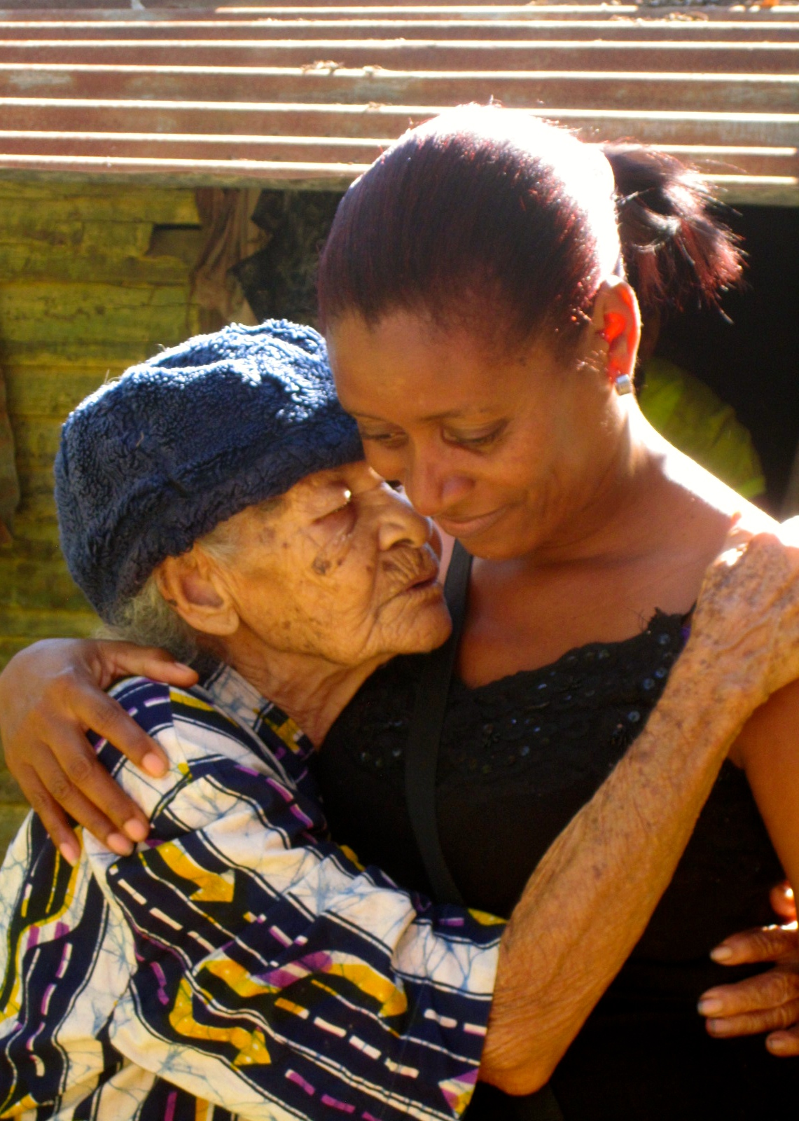 Elderly woman who received support from Community Health Fund