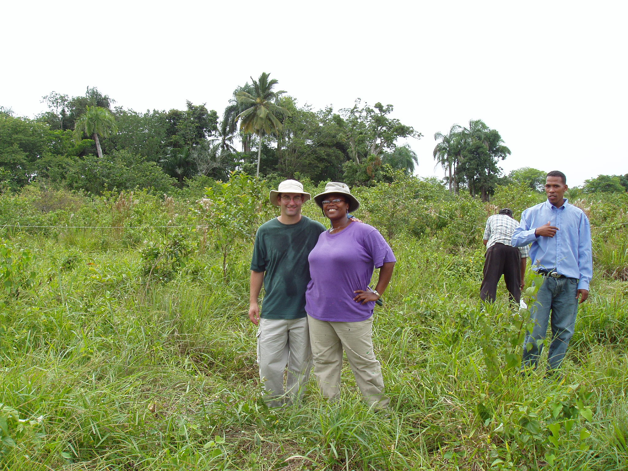 SIP Co-Directors Victoria Santos and Peter Blaustein at the site of the Learning Center before it was built