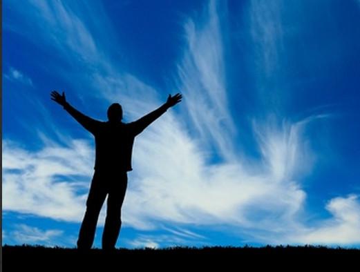 Healing - triumphant man