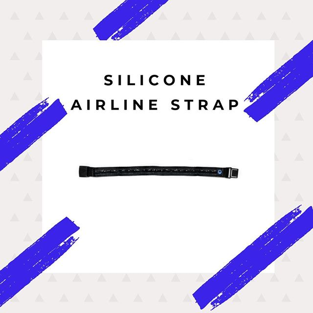 The airline strap with silicone ensures your mask stays in place and removes any chance of head-bobbing from your travel itinerary. #seatdreamzzz