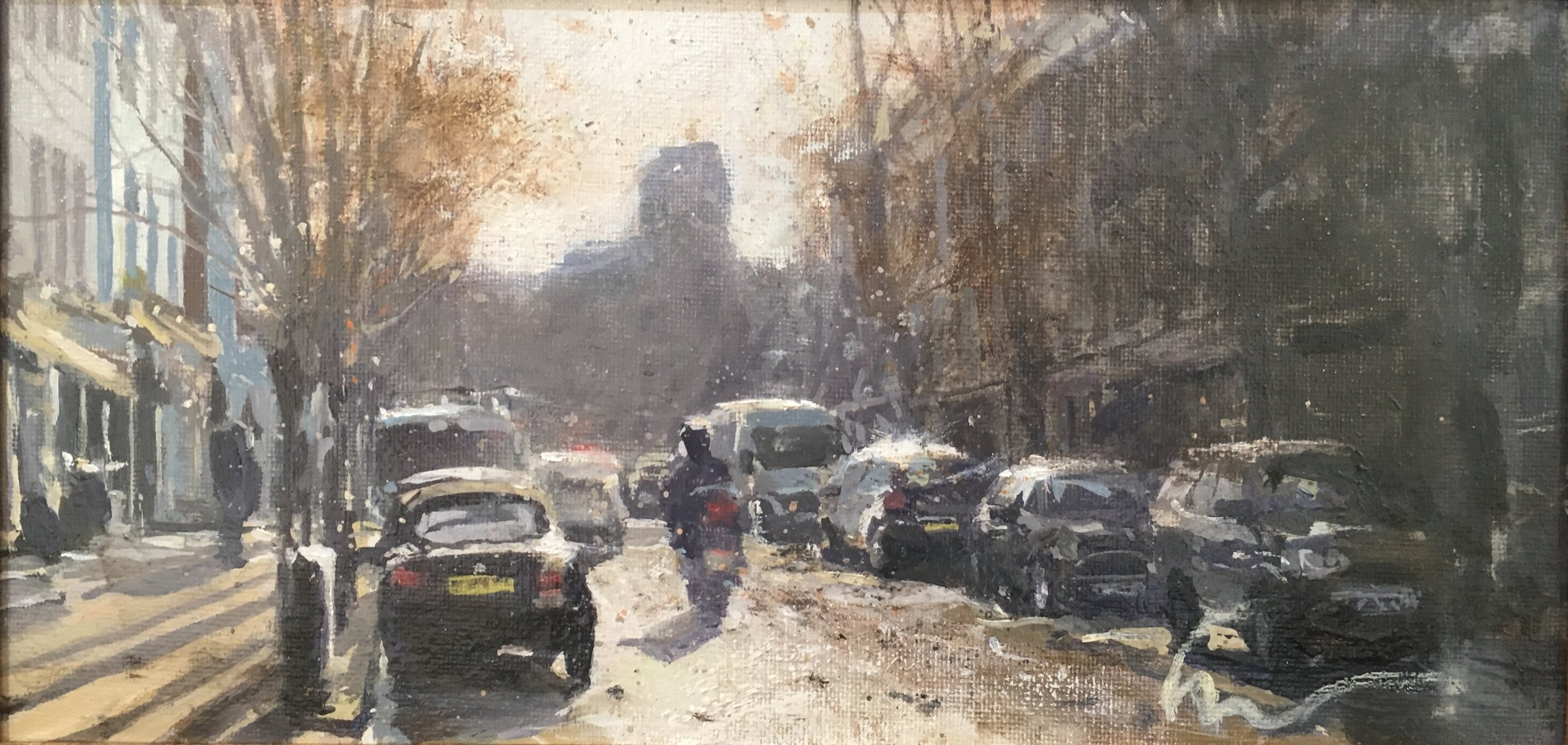Westbourne Grove, 15 x 30 cm, Oil on Canvas, £600