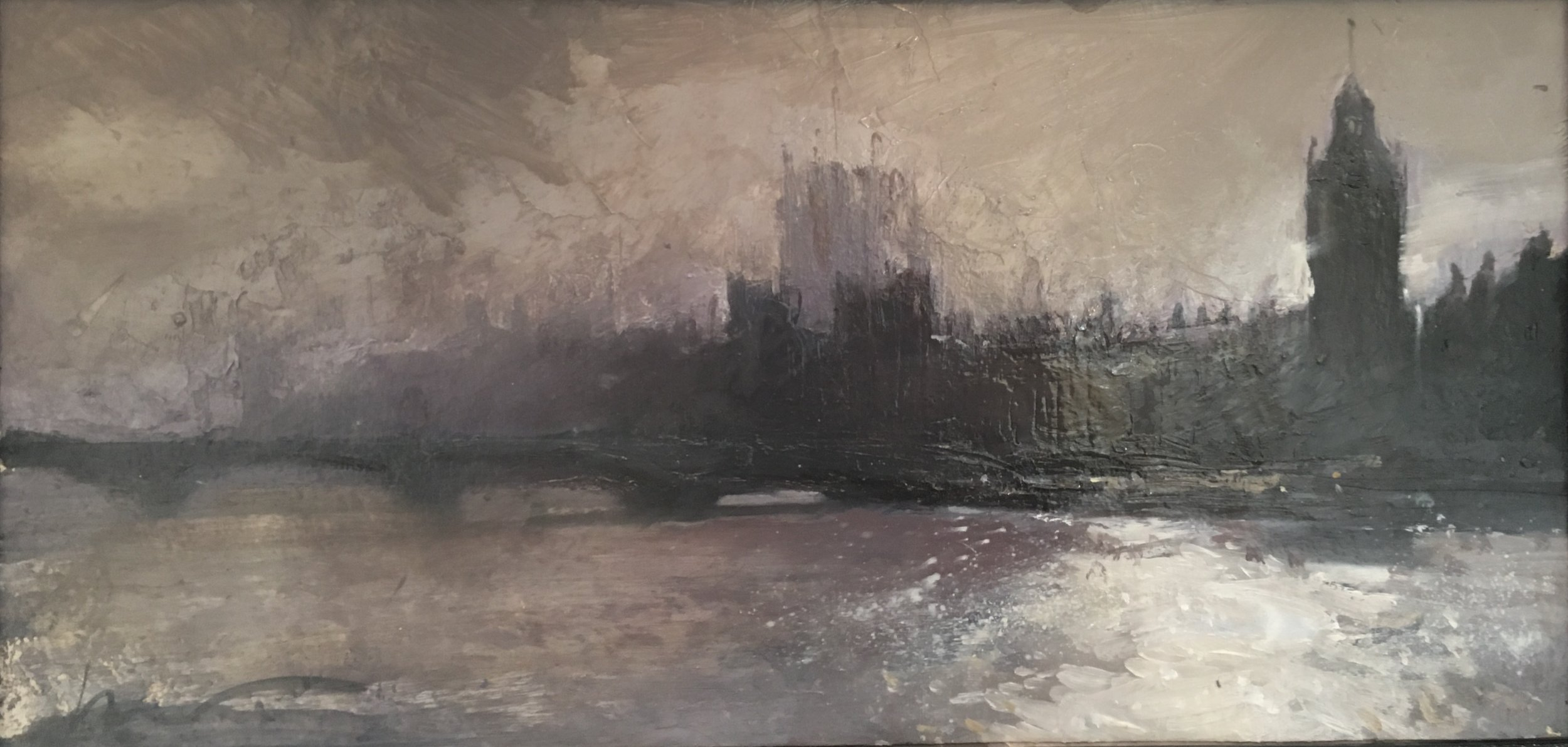 Hung Parliament, 15 x 30 cm, Oil on Canvas, £400