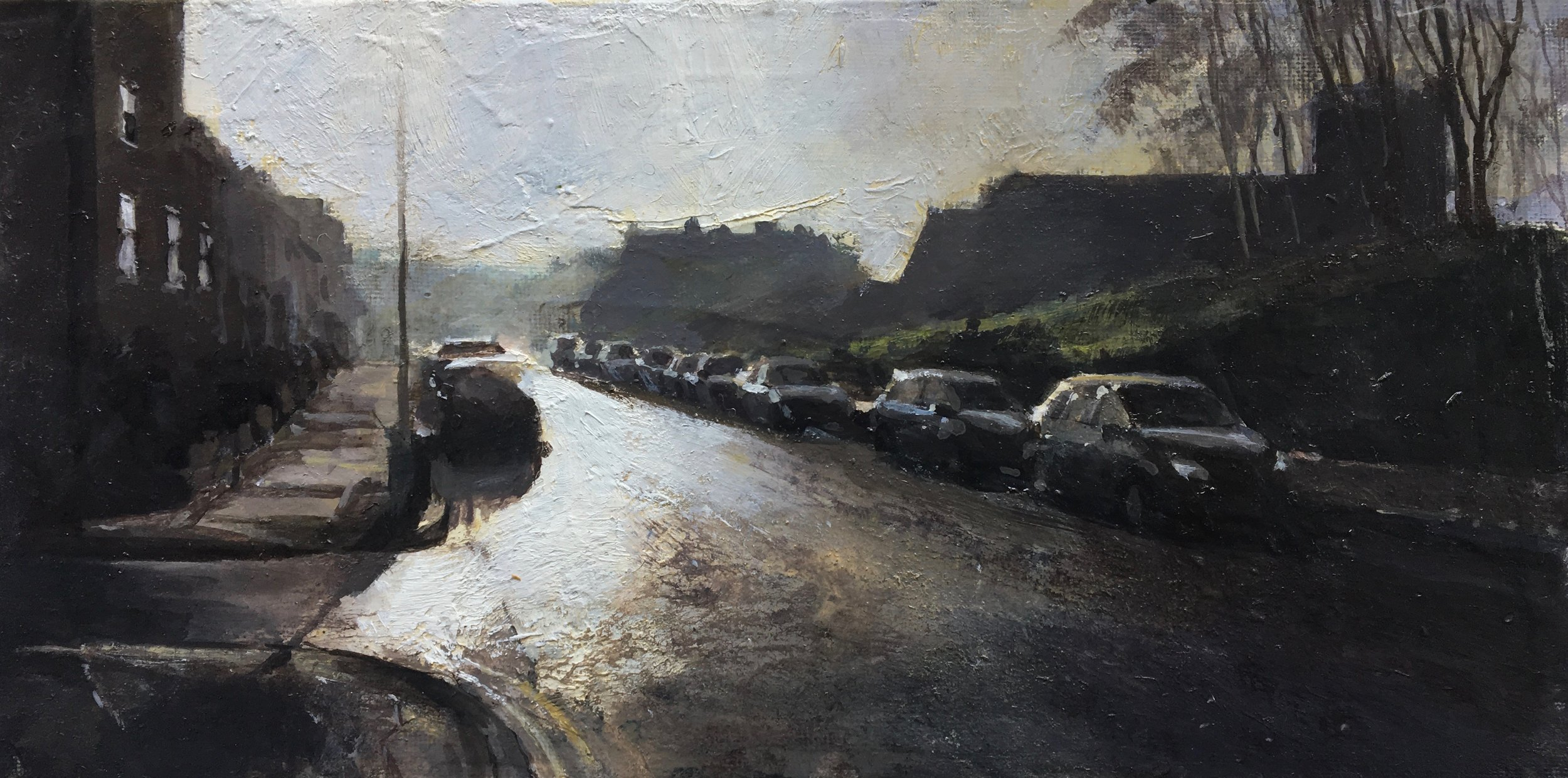 Street Lights, 15 x 30 cm, Oil on Canvas, £600